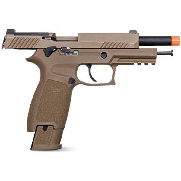 SIG Airsoft Air Pistol 4 Sig Sauer Pro Force M17 Airsoft Pistol with Included 5x12 Gram CO2 Tanks and Pack of 1000 6mm 0.20g BBS Bundle