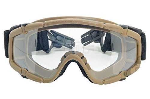 FMA Airsoft Goggle 1 FMA Airsoft Paintball OPS CORE Jump Helmet Rail Clear SI Goggles Glasses TAN Sand DE