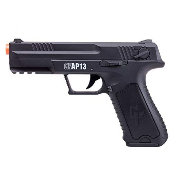 Game Face Airsoft Pistol 2 GameFace GFAP13 AEG Electric Full/Semi-Auto Airsoft Pistol With Battery Charger, Speed Loader And Ammo, Black
