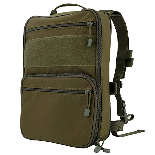 Huenco Tactical Backpack 1 Huenco Tactical MOLLE Military Day Pack Variable Capacity Assault Backpack for Adventure Traveling School