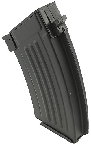 SportPro  4 SportPro 220 Round Metal Stubby High Capacity Magazine for AEG AK47 AK74 Airsoft - Black