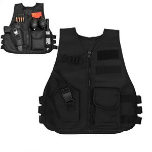Vbestlife Airsoft Tactical Vest 1 Children Tactical Vest Black Children Kids Security Guard Waistcoat Cs Field Combat Training Military Army Tactical Vest Oxford Boys Costumes Games Protective Jacket Vest