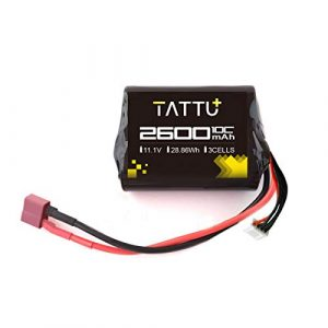 TATTU+ Airsoft Battery 1 TATTU 2600mah 11.1V Brick Airsoft Battery with Deans Connector for Airsoft Gun