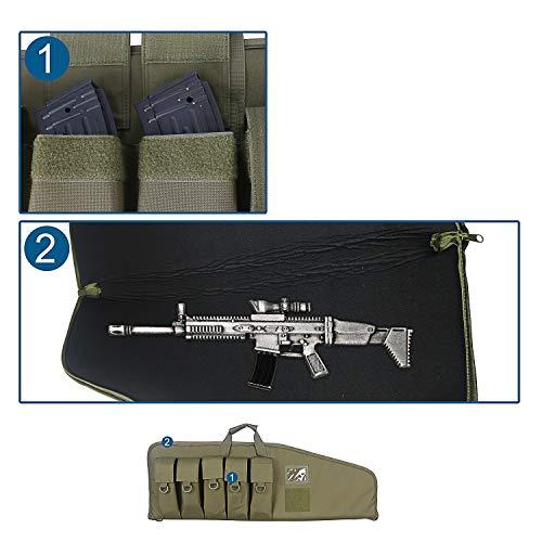 paladins Airsoft Gun Case 3 paladins 38 inch Single Rifle Soft Cases with Foam Padding