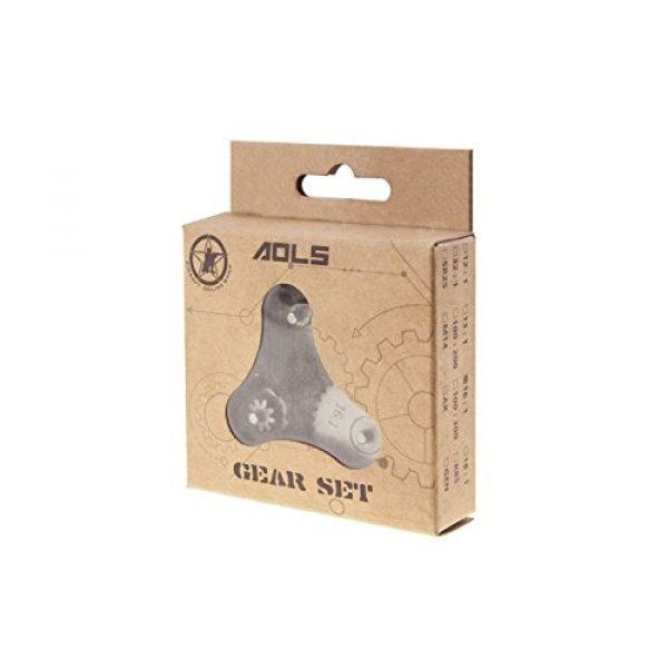 AOLS Airsoft Gear Set 4 AOLS 16: 1 AEG Gear Set Reinforced Steel with Super Torque