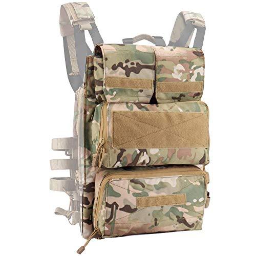 NICEFISH Airsoft Tactical Vest 2 Tactical Vest + Backpack/Modular Vest + Backpack/Breathable Combat Training Vest Adjustable Lightweight