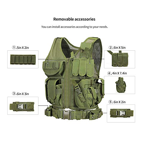 GZ XINXING Airsoft Tactical Vest 6 GZ XINXING S - 4XL Law Enforcement Tactical Airsoft Paintball Vest