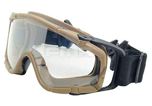 FMA Airsoft Goggle 6 FMA Airsoft Paintball OPS CORE Jump Helmet Rail Clear SI Goggles Glasses TAN Sand DE