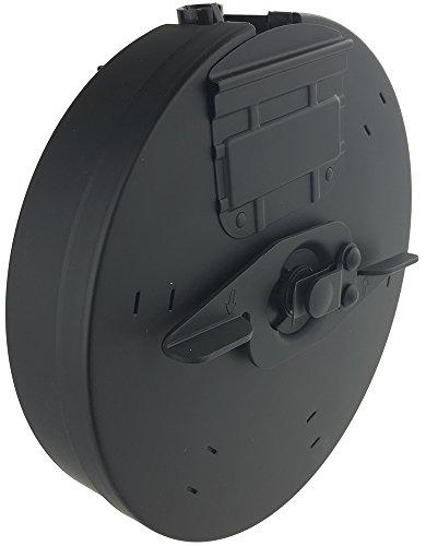 SportPro  2 SportPro CYMA 450 Round Metal Drum Magazine for AEG Thompson M1A1 Airsoft - Black