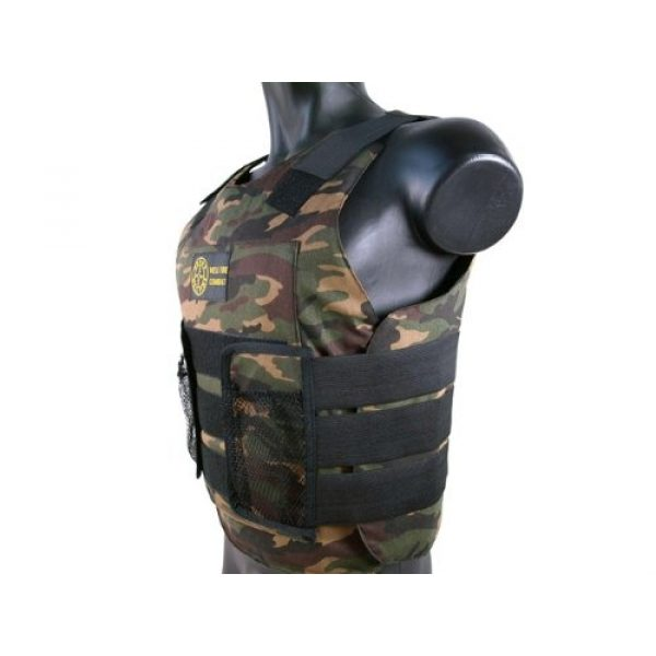 BBTac Airsoft Tactical Vest 2 BBTac Airsoft Protection Vest, Padded Cushion (Woodland Camo)