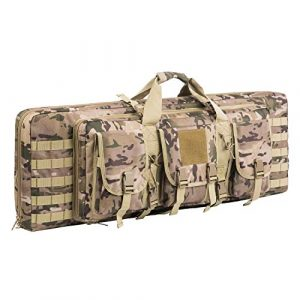 Fox Tactical Airsoft Gun Case 1 Fox Tactical 38 42 Inch Double Long Rifle Gun Case Bag Outdoor Tactical Carbine Cases Water Dust Resistant Fireproof for Hunting Shooting (Multicam, 42in)