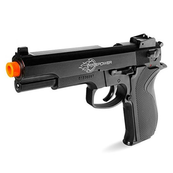 Fire Power Airsoft Pistol 2 Firepower .45 Metal Slide Spring Powered Airsoft Pistol with Hop-Up, 325 FPS