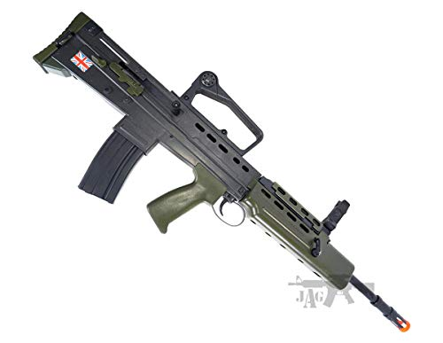 HFC  1 HFC Airsoft Spring Tactical Rifle British Army SA80 Full Size 320FPS Bolt Action with Rail