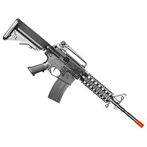 BULLDOG AIRSOFT Airsoft Rifle 1 Bulldog M4PG RIS Electric Airsoft CQB AEG Rifle - Pro Grade - Mid Cap Mag