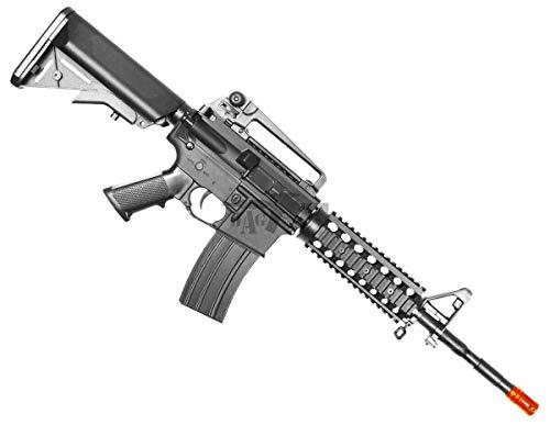 BULLDOG AIRSOFT  1 Bulldog M4PG RIS Electric Airsoft CQB AEG Rifle - Pro Grade - Mid Cap Mag