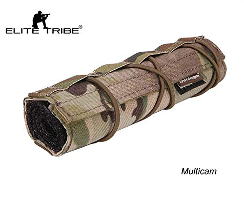 Elite Tribe Airsoft Tool 1 Elite Tribe Airsoft Tactical Rifle Suppressor Cover 18cm Quick Release Multicam
