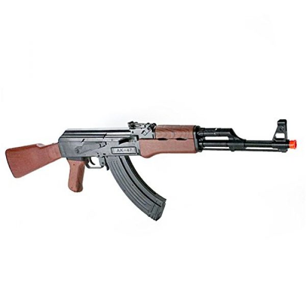 BBTac Airsoft Rifle 7 BBTac Airsoft Spring Rifle A&K Airsoft Gun Full Size Great for Starter Shoot 6mm BBS with Safe Mode, Wood Color