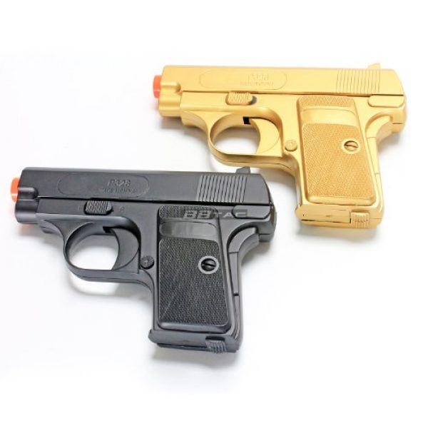 BBTac Airsoft Pistol 3 bbtac gold and black dual 618 airsoft sub-compact pocket pistols 110 fps spring concealable gun with storage case(Airsoft Gun)