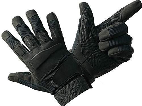 Survival Outlaw Airsoft Glove 1 Survival Outlaw - Black Tactical Shooting Gloves Impact Protection for Airsoft and Paintball Excellent Dexterity Grip for Men & Women. (M