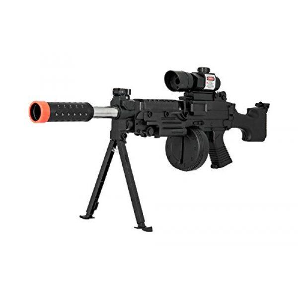 UKARMS Airsoft Rifle 3 UKARMS Tactical LMG Spring Airsoft Rifle Gun FPS 300