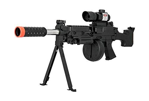 UKARMS  3 UKARMS Tactical LMG Spring Airsoft Rifle Gun FPS 300