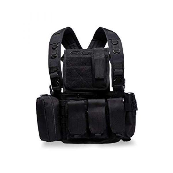 MINGWANG Airsoft Tactical Vest 1 MINGWANG Tactical Vest Outdoor Training Chest Rigs,Airsoft Vest Gear Adjustable Combat Vest
