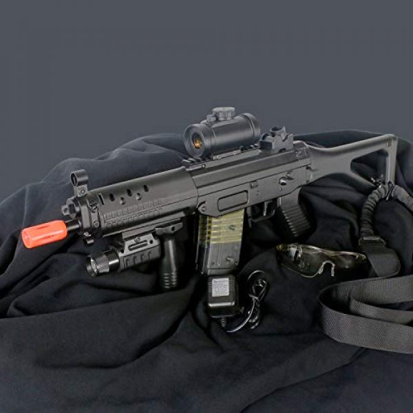 BBTac Airsoft Rifle 2 BBTac Double Eagle Airsoft Gun AEG Electric Rifle Full Auto Great Starter with Premium Airsoft Carrying Sling