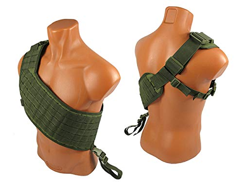 tactic.world Airsoft Tactical Vest 1 MOLLE Modular Tactical Bandolier Airsoft Vest Chest rig Paintball