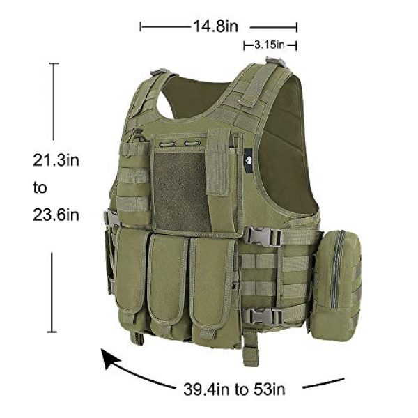 MGFLASHFORCE Airsoft Tactical Vest 2 MGFLASHFORCE Tactical CS Field Vest, Airsoft Paintball Vest