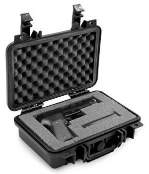 CASEMATIX Airsoft Gun Case 1 CASEMATIX Hard Gun Case for Pistols - Waterproof & Shockproof Gun Cases for Pistols