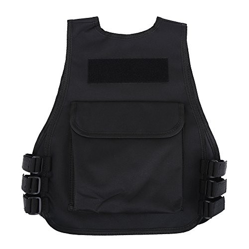 Vbestlife Airsoft Tactical Vest 3 Children Tactical Vest Black Children Kids Security Guard Waistcoat Cs Field Combat Training Military Army Tactical Vest Oxford Boys Costumes Games Protective Jacket Vest