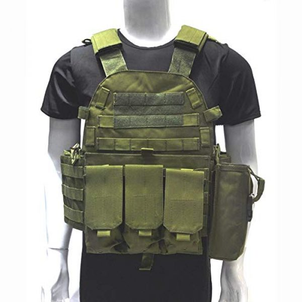 Fouos Airsoft Tactical Vest 5 Fouos Tactical Vest 600D Modoular Protective Durable Waistcoat for Airsoft Wargame Hunting and Outdoor Sports Activities