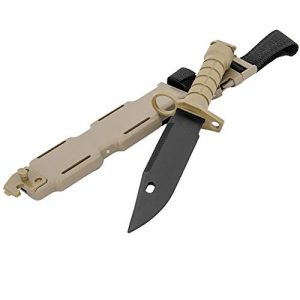 MetalTac Airsoft Knife 1 MetalTac Rubber Knife Training with Sheath for Airsoft Guns