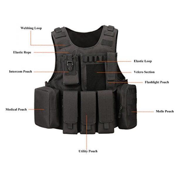ArcEnCiel Airsoft Tactical Vest 4 ArcEnCiel Tactical Molle Vest, Black