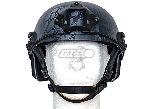 Lancer Tactical Airsoft Goggle 2 Lancer Tactical CA-726B FAST Helmet MH Type Custom Color (Black)