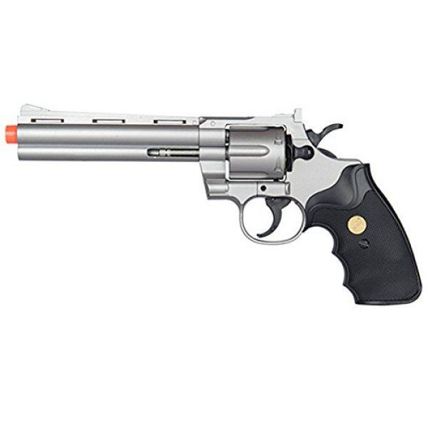UKARMS Airsoft Pistol 2 UKARMS Spring Airsoft Gun - 6 Shot 357 Magnum Revolver w/Shells + 6mm BBS (Silver)