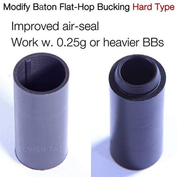Elvish Tac Airsoft Barrel 2 Elvish Tac Modify Baton Flat Hopup Bucking Hard Type + S-Nub for Airsoft Hop-up