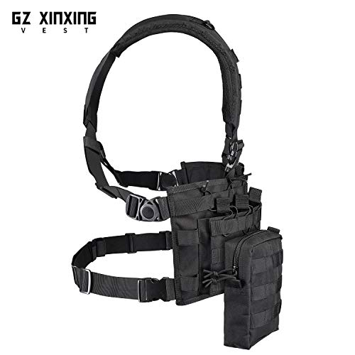 GZ XINXING Airsoft Tactical Vest 4 GZ XINXING Chest Rig Tactical Vest X Harness for Airsoft Shooting Wargame Paintball