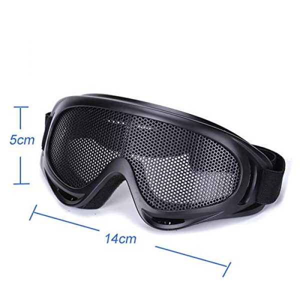 Sunny Airsoft Goggle 3 Outdoor Sports Airsoft Hunting Protention Gear Tactical Shooting X400 Metal Steel Wire Mesh Goggles