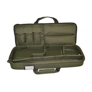Explorer Cases Rifle Case 1 Explorer Mojo Tactical Rifle Case - AR15 Case with Pockets for Magazines, Pistols, Rifle Accessories, Police & Military Gear - Backpack or Shoulder Gun Carrying Bag for Paintball, Airsoft, More