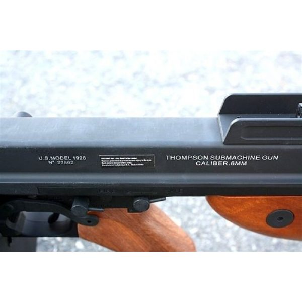 Thompson Airsoft Rifle 2 Soft Air Thompson 1928 Electric Powered Airsoft Gun with Adjustable Hop-Up, 400-450 FPS