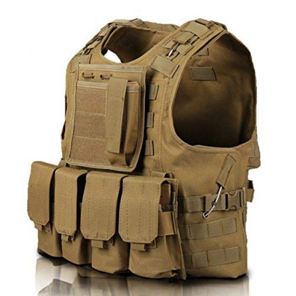 Invenko Airsoft Tactical Vest 7 Invenko Tactical Molle Airsoft Vest Paintball Combat Soft Vest Tan