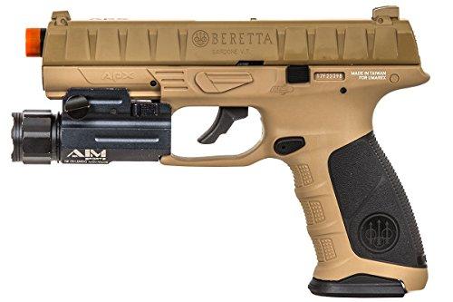 Elite Force Airsoft Pistol 2 Elite Force Beretta APX CO2 Blowback Pistol Airsoft Gun (FDE)