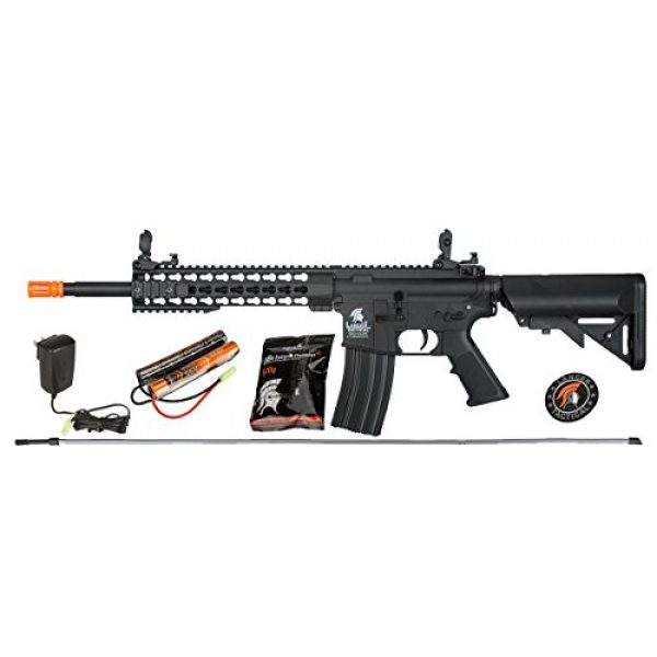 "Lancer Tactical Airsoft Rifle 1 LANCER TACTICAL Gen 2 LT-19 Carbine 10"" AEG Electric Automatic Aerosoft Gun"
