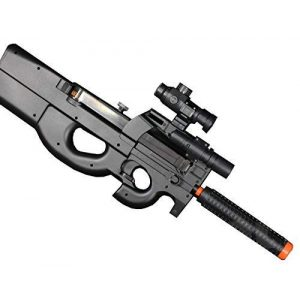 Well Airsoft Rifle 1 Well Airsoft Electric Automatic Rifle D90H Tactical Flashlight - Target [290 FPS] Replica Orange Markings [Hop Up ]