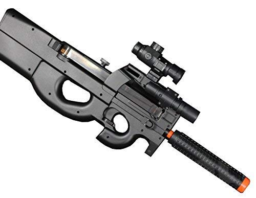 Well Airsoft Rifle 1 Well D90H P90 STYLE FULL AUTO ELECTRIC AIRSOFT ELECTRIC RIFLE WITH A TARGET AND OTHER ACCESSORIES