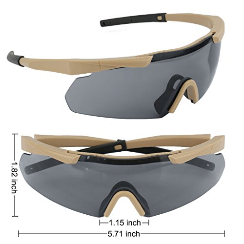 Outdoor Antifog Safety Glasses & Hard Shell Case - Unisex Shooting Glasses Cycling