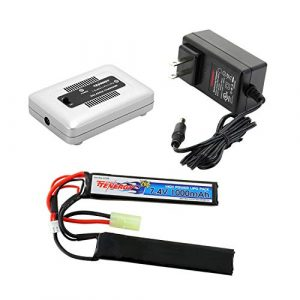 Tenergy Airsoft Battery 1 Tenergy 7.4V LiPo Airsoft Battery 1000mAh 20C Butterfly Battery Pack with Mini Tamiya Connector for M4