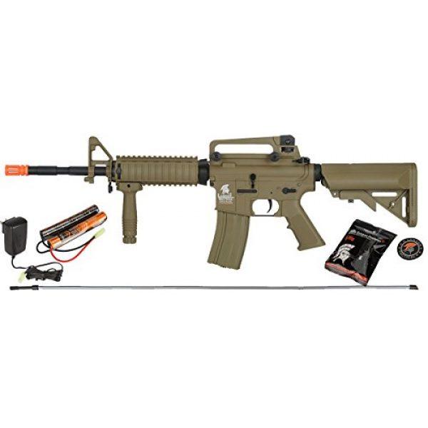 UKARMS Airsoft Rifle 1 UKARMS Lancer Tactical M4A1 Airsoft Gun Rifle RIS SOPMOD AEG Metal Gears Raider w/ 9.6v Battery & Charger (Tan High Velocity)