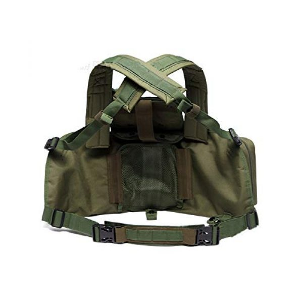 Saigain Airsoft Tactical Vest 2 Saigain Mens Molle Chest Rig Law Enforcement Work Vest Combat Condor Security Training Tool Pouch for Outdoor Paintball CS Game Airsoft Climbing Hiking